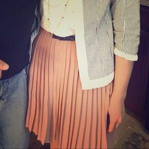 Lauren Conrad Neutral Pleated Skirt